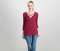 Emory Park Women's Pullover Top, Maroon