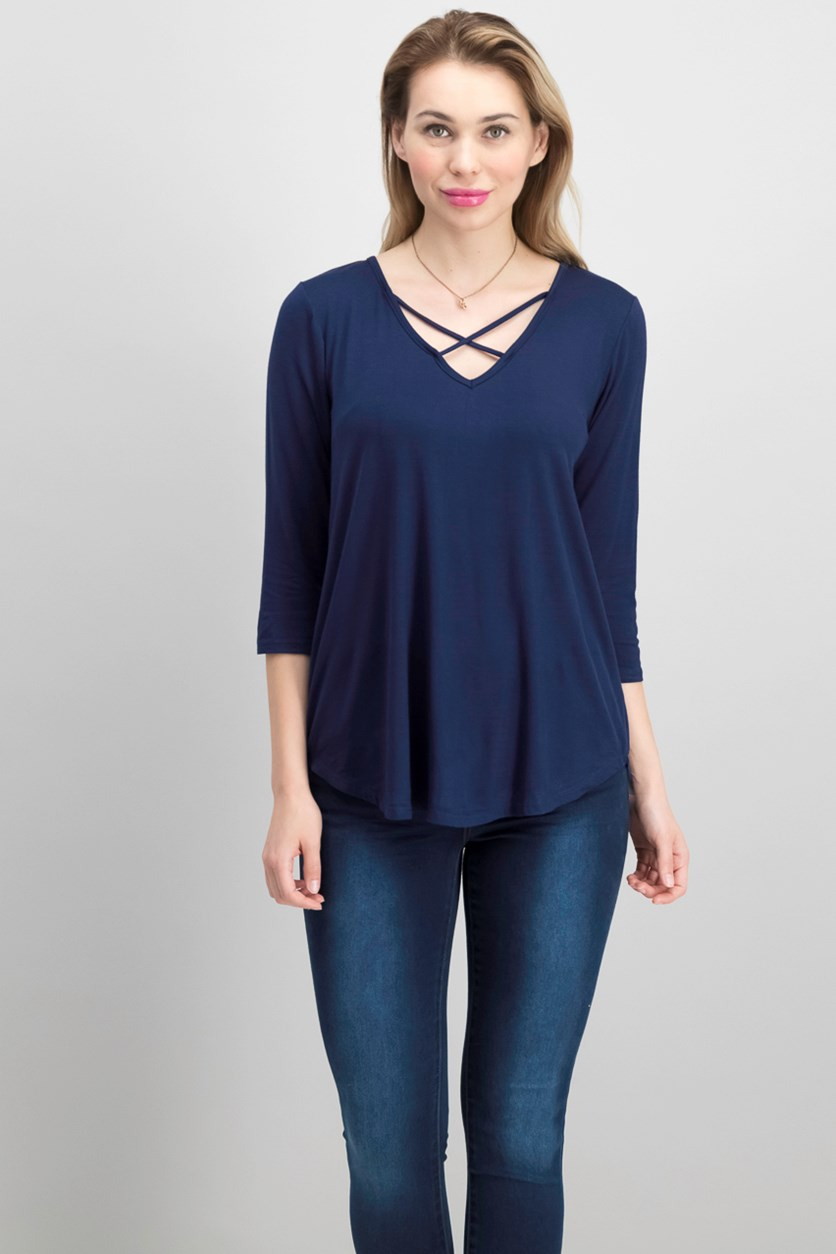 Women's Pullover Top, Navy