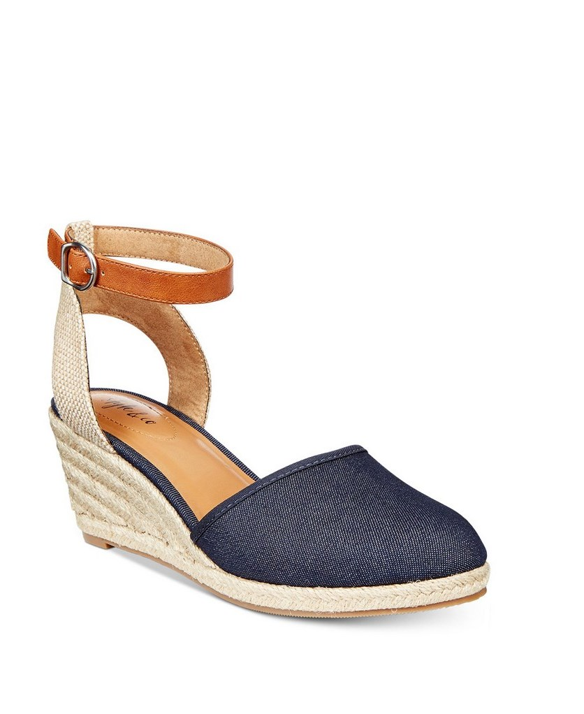 Mailena Wedge Pumps, Dark Denim