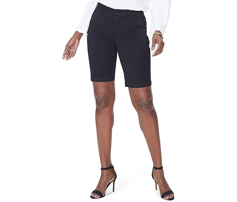 Women's Stretch Twill Bermuda Shorts, Black