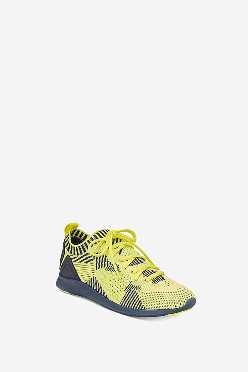 Mattyy Lace-Up Sneakers, Citron/Navy