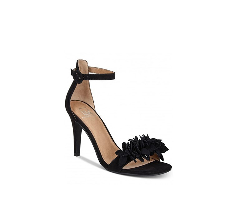 Blossom Dress Sandals, Black