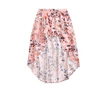 Love, Fire Floral-Print Maxi Shorts, Blush