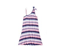 Love, Fire Big Girls Striped One-Shoulder Swing Dress, Pink Combo