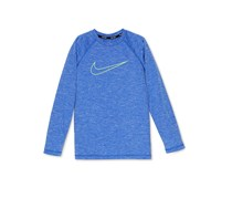 Nike Logo-Print Heathered Rash Guar, Hyper Royal