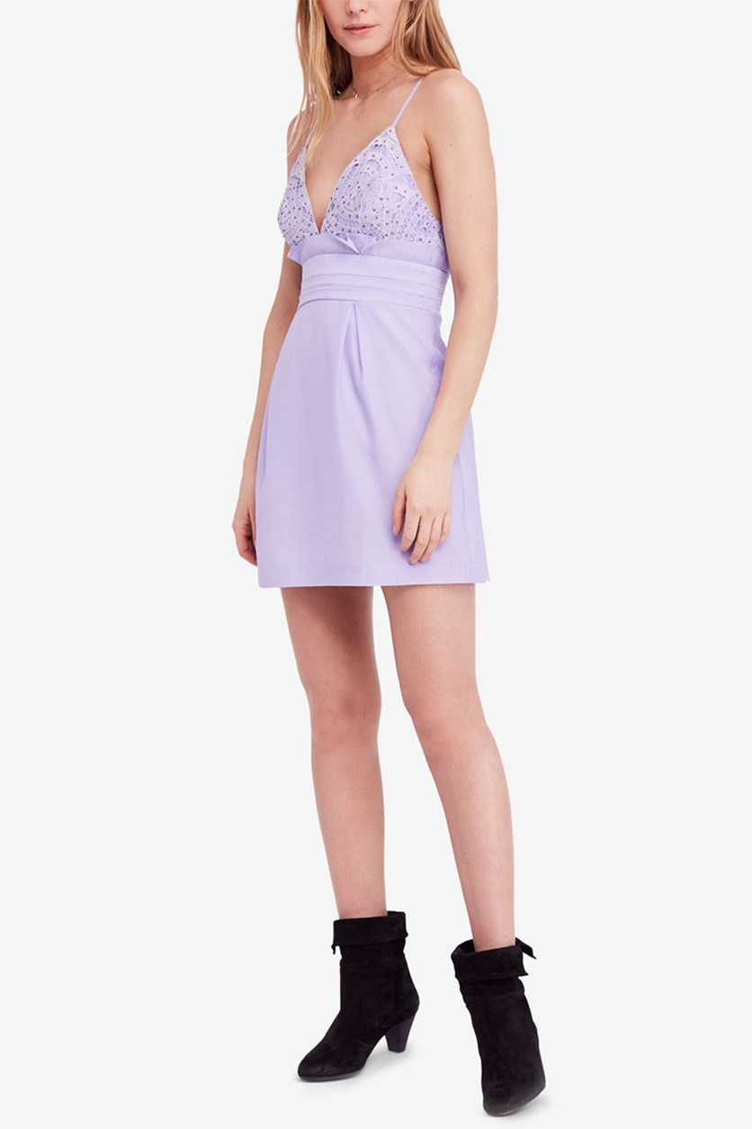 We Go Together Mini Dress, Pastel Purple