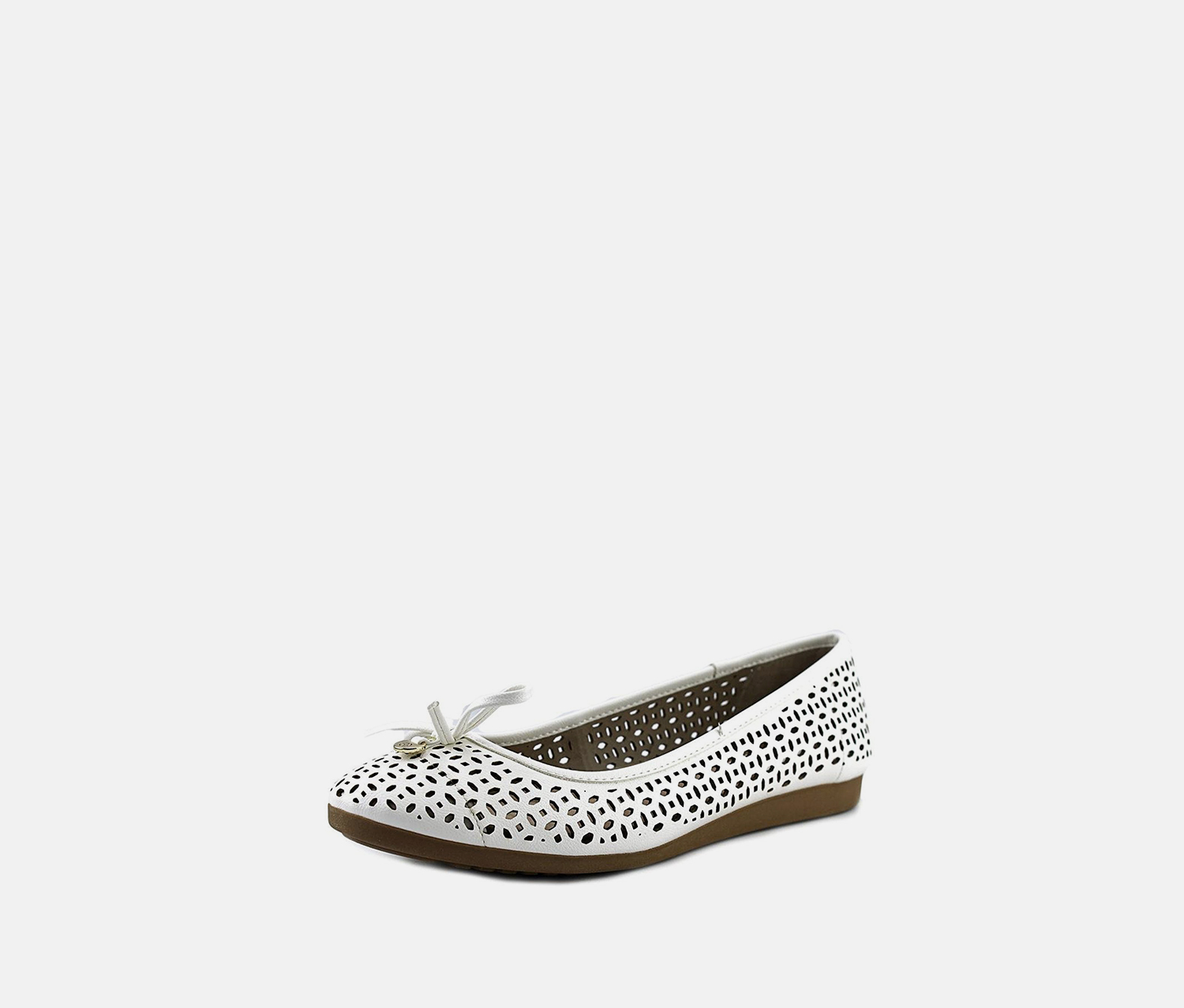 Odeysa Ballet Flats, White Perforated