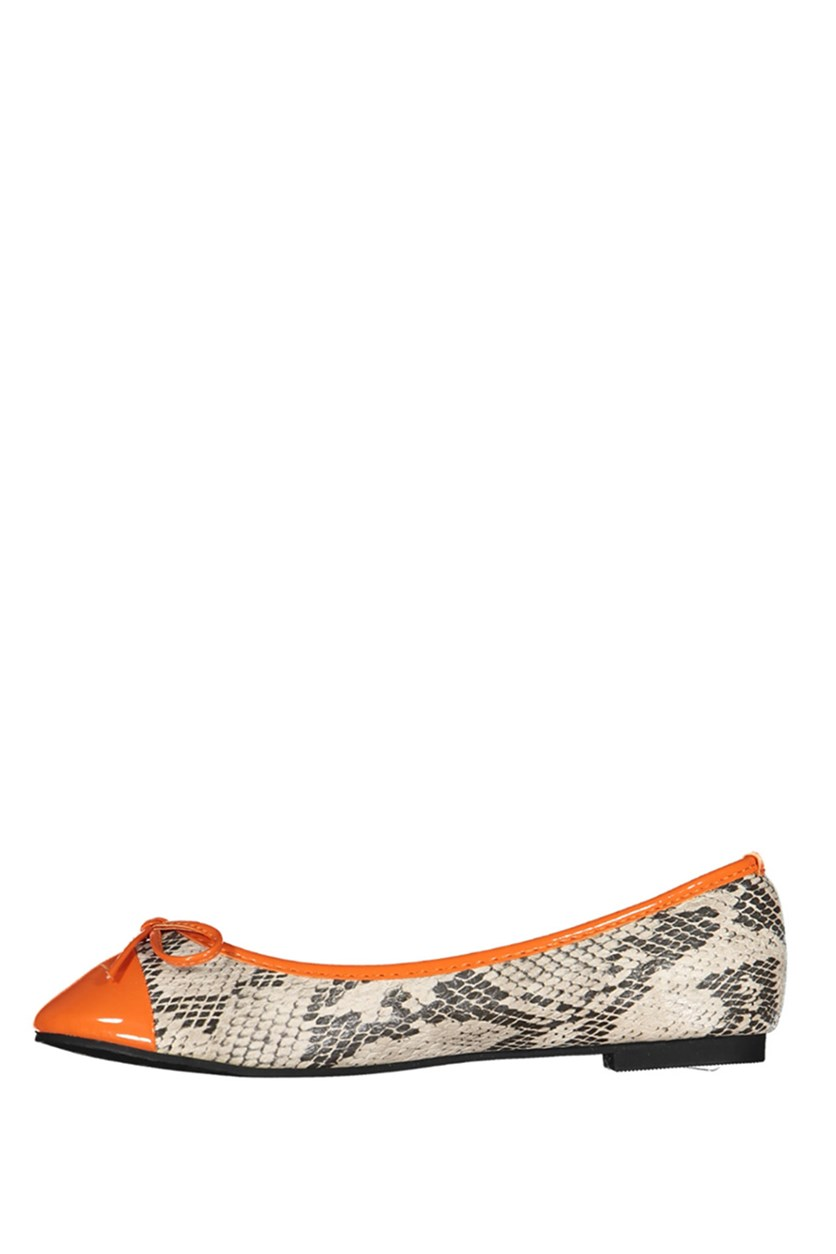 Women's Flats Shoes, Orange/Grey