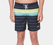 Original Penguin Mens Engineered Striped Short, Dark Sapphire
