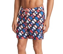 Original Penguin Popsicle Swim Trunks, Sapphire Sombre