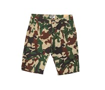 House Men's Camouflage Shorts, Green Combo