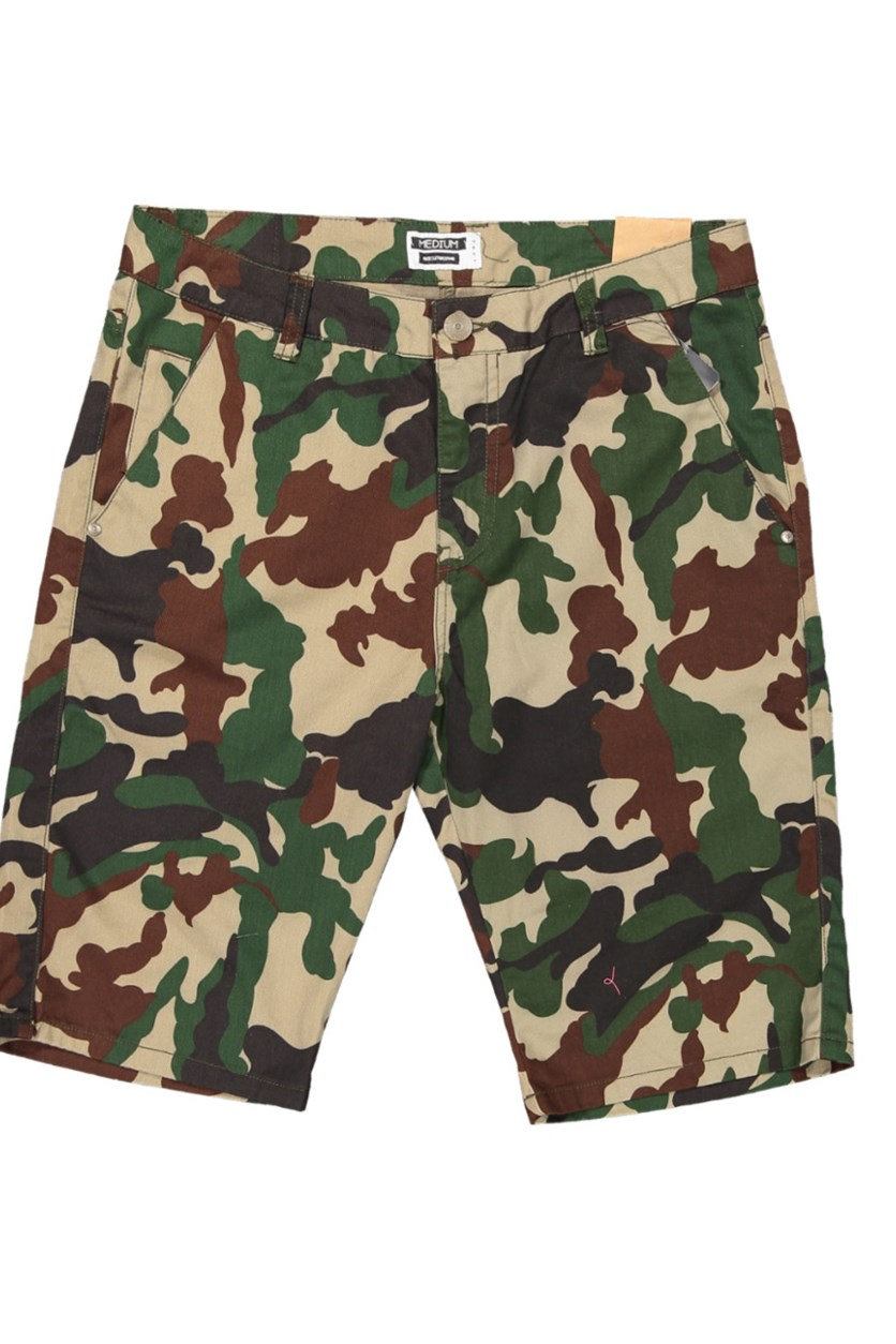 Men's Camouflage Shorts, Green Combo