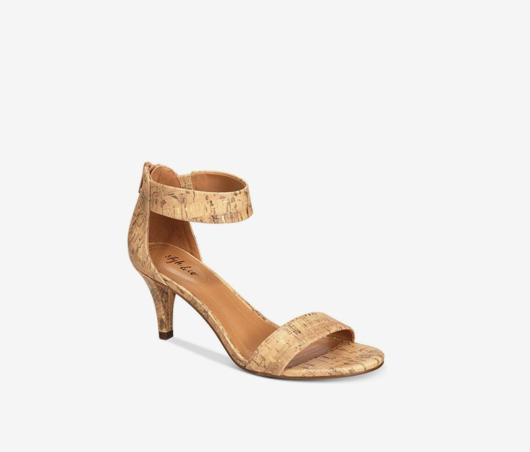 Paycee Two-Piece Dress Sandals, Cork