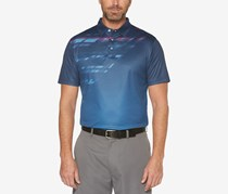PGA TOUR Mens Printed Polo, Peacoat