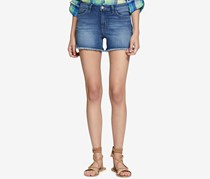 Sanctuary Women's Frayed Denim Shorts, Wash Blue