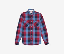 Cropp Men's Pocket Chest Shirt, Blue/Red Checked