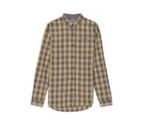 Men Plaid Shirt, Olive Combo