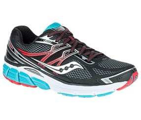 Saucony Women's Sport Shoes, Black/Grey/Red/Blue