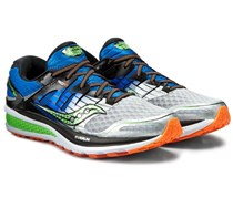 Saucony Men's Running Shoes, Blue/Grey/Orange/Lime Green