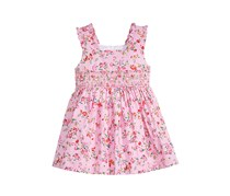 Toddlers Ditsy Floral-Print Smocked Dress, Pink