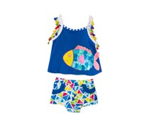 Rare Editions Baby Girls 2-Pc. Fish Tank Top, Blue