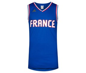 Adidas Men's France Basketball France Jersey, Blue