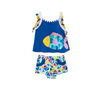 Rare Editions Baby Girls 2-Pc. Fish Tank Top & Shorts Set, Blue