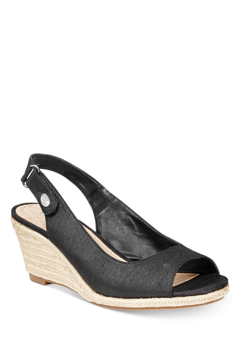 Samiee Espadrille Wedge Sandals, Black
