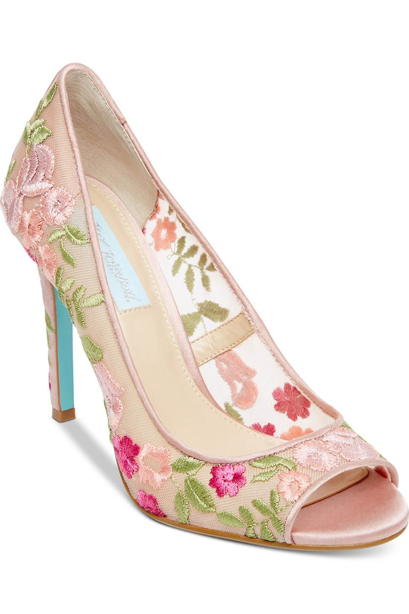 Blue by Betsey Johnson Adley Evening Pumps, Pink Combo