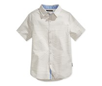 Sean John Boy's Ripplewave Striped Shirt, Grey