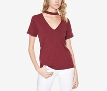 Sanctuary Women's Choker Tee, Maroon