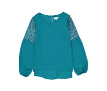 GB girls Girl's Lace Top, Teal