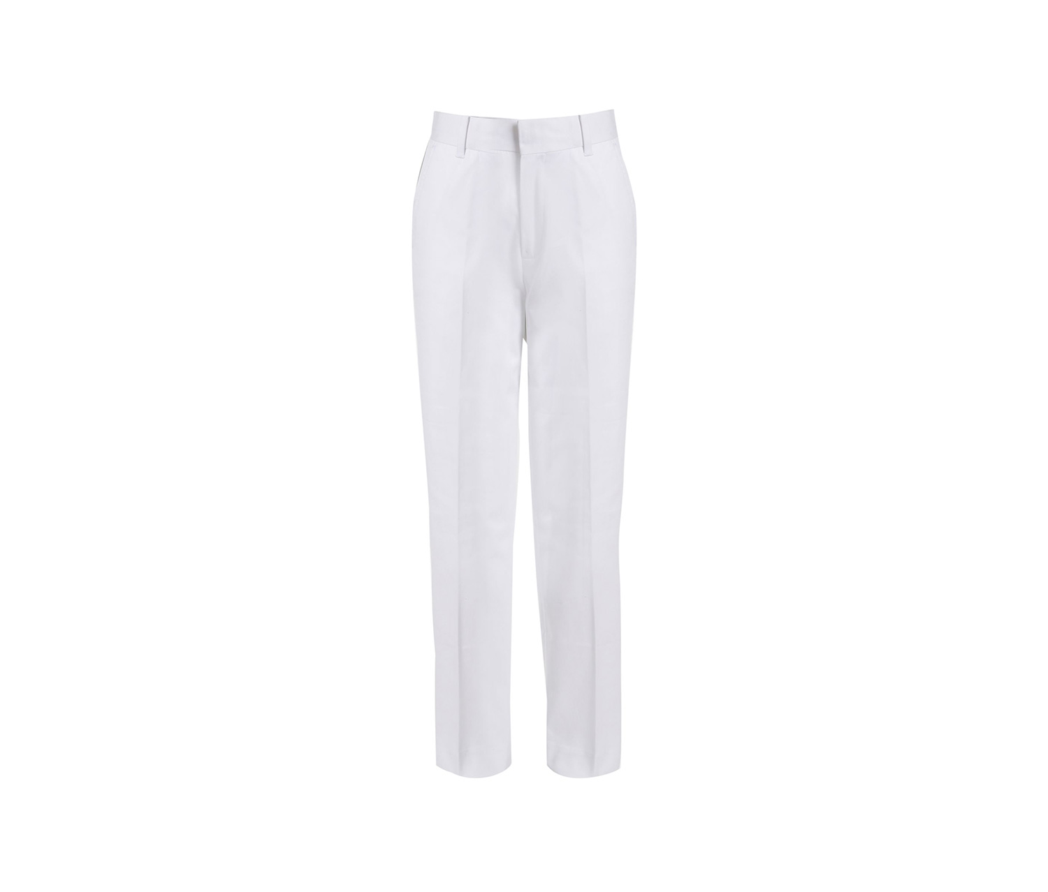 Stretch Fine Twill Pants, White
