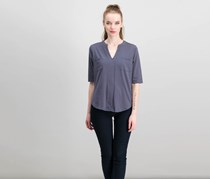 Dee Elly Chest Pocket Shirt, Dark Grey