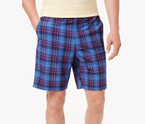 Tommy Bahama Cayman Primero Plaid Hybrid Swim Shorts, Ocean Deep