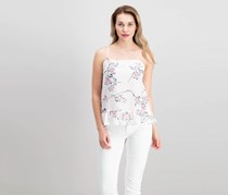 Collective Concepts Floral Print Top, Light Blush/Grey
