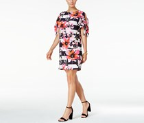 Vince Camuto Tie-Sleeve Striped Shift Dress, Pink