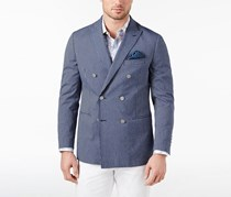 Tallia Orange Men's Modern-Fit Stretch Double-Breasted Coat, Navy