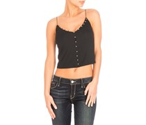 Guess Edith Button-Trim Camisole, Black