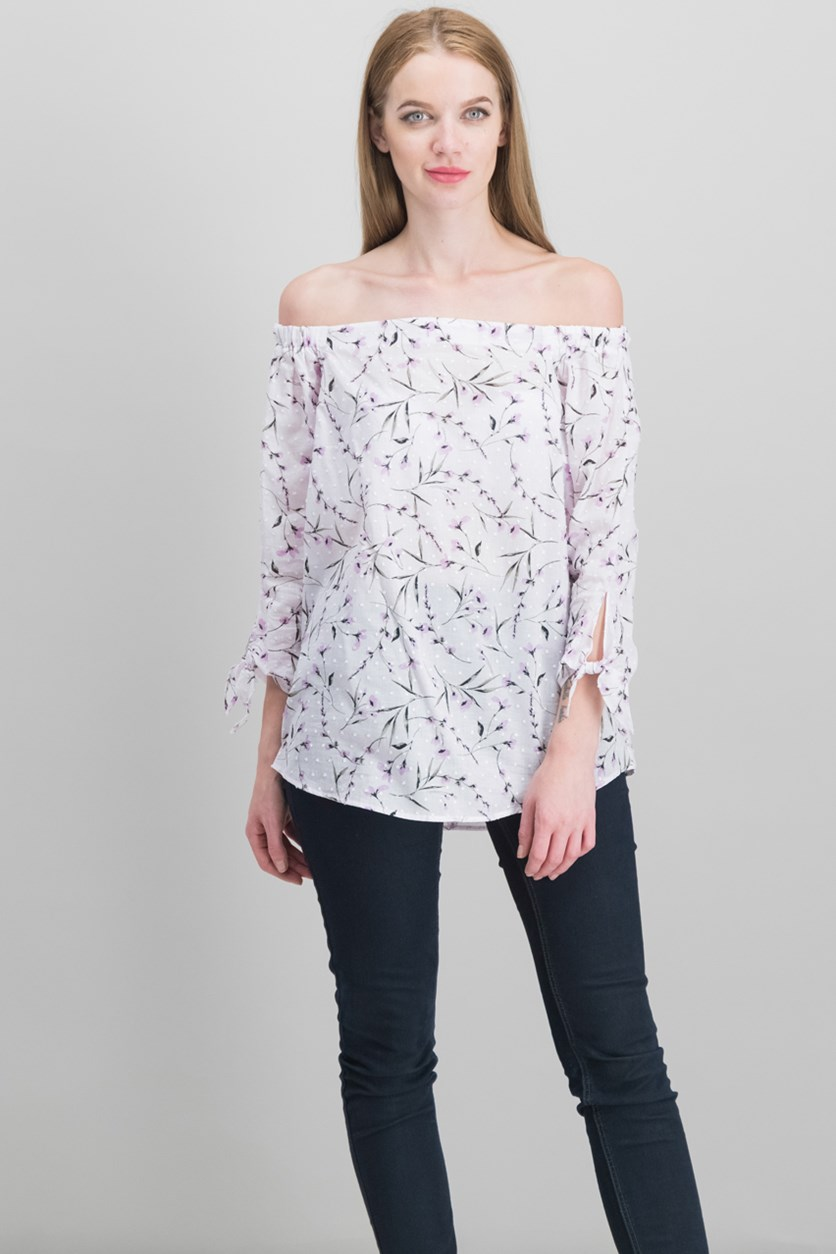 Off-The-Shoulder Top, Water Iris