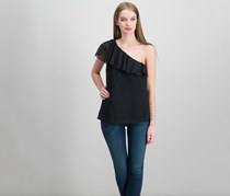 Paige Shandi One-Shoulder Top, Black