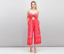Free People Feel The Sun Cutout Jumpsuit, Red