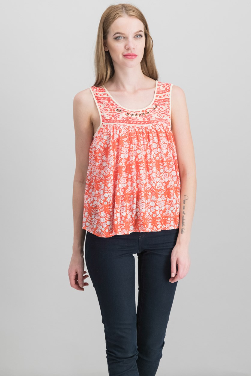 Lucky Coin Swing Tank Top, Orange