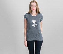 Free People Rose Graphic Tee, Anthracite