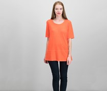 Eileen Fisher Women's Blend Elbow-Sleeve Tunic, Orange