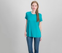 Eileen Fisher Women's Petite Stretch Jersey T-Shirt, Turquoise