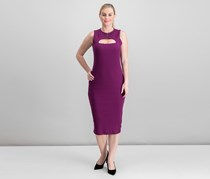 Guess Gibson Cut-Out Dress, Purple