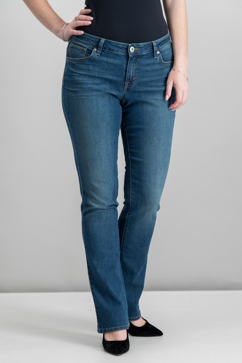 Style Co Curvy-Fit Modern Bootcut Jeans, Marine Wash