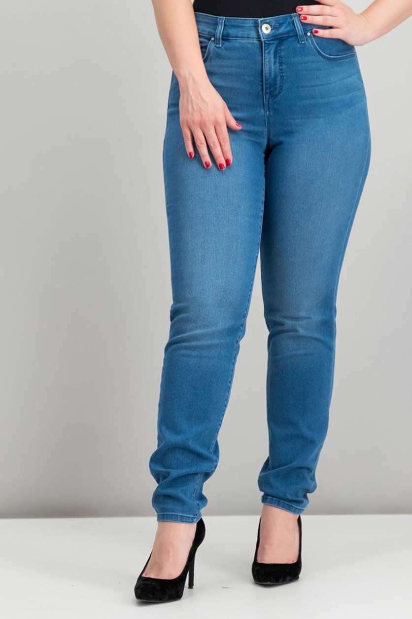 Women's Curvy Fit Skinny Jeans, Blue
