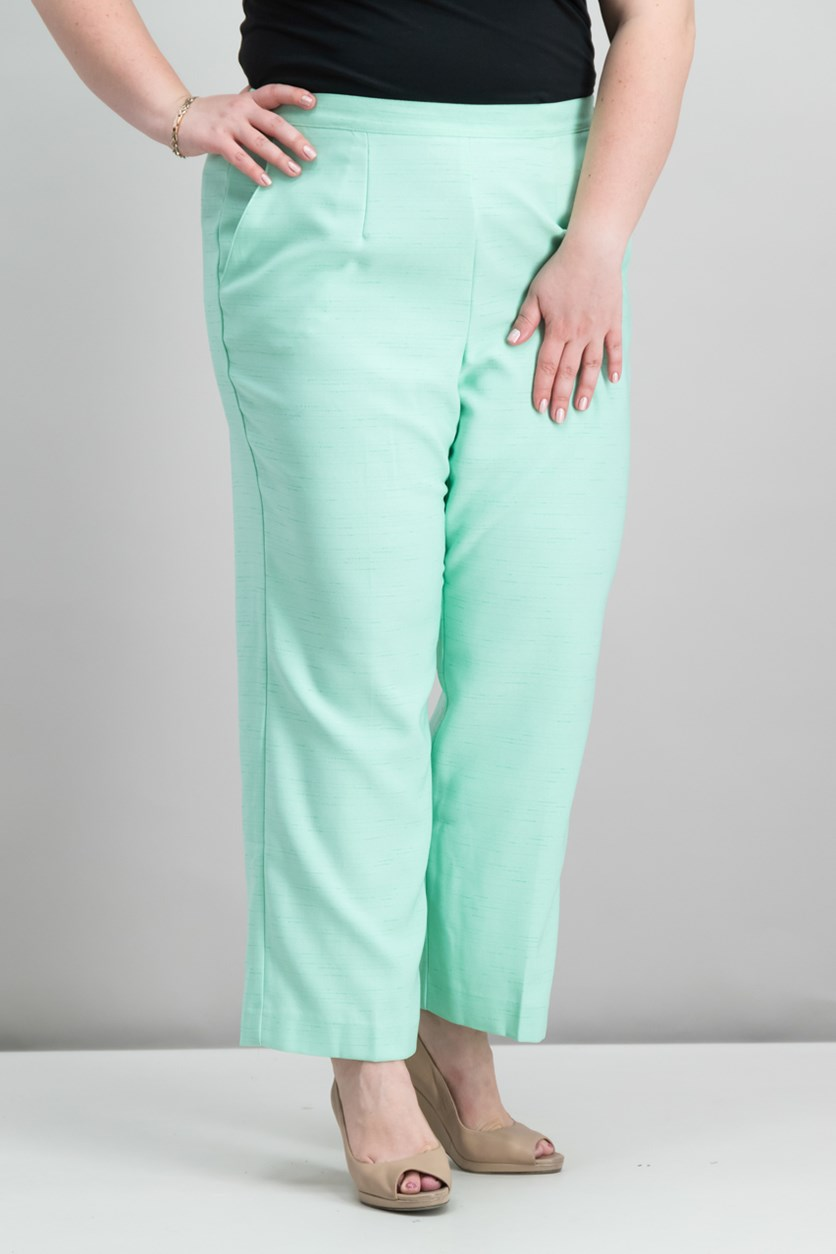 Alfred Dunner Plus Size Pull-On Pants, Mint